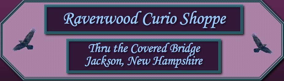 RAVENWOOD CURIO SHOP THRU THE COVERED BRIDGE IN JACKSON, NH. A